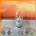 Ahorro de energía bombillas de iluminación/e12 e14 e17 led vela bombilla/3w 4w 5w artificial led de luz de vela