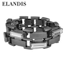 ELANDIS Fashion style glass diamond bracelet artificial diamond hand catenary
