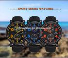 Men sport watch 2014 fashion brand V6 army watches natural straps waterproof quartz analog new arrival high quality wristwatch