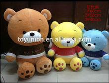 Cuddle Brown ,Yellow ,Blue Cute Teddy Bear Wholesale / High Quality Fat Teddy bear