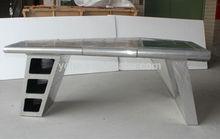 Aviator wing desk,aluminum desk