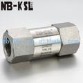 Gas natural válvula de retención