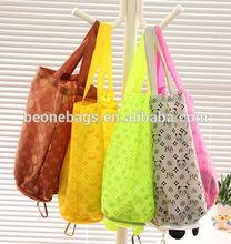 Cheap Colorful Logo Printed Waterproof Portable Foldable Shopping Bag