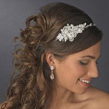 Beautiful Crystal Side Accented Bridal Headpiece Headband