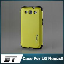 Antsliding unique shockproof slim tough mobile phone armor case for nexus 5
