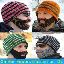 Beard Knitted Hat Cute Cap Ski Mask Hat