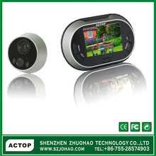 Fashionable design 3.5inch video door viewer with long standby time