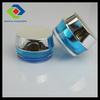 30ml acrylic mason jar wih lid and straw,blue plastic cosmetic jar