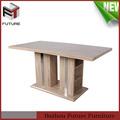mdf estilo de italia de madera rectangular mesa de comedor muebles de madera