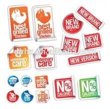 custom waterproof self adhesive label sticker printing!