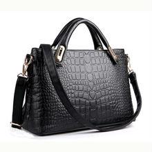 Newly pu leather female handbag, black shoulder bag for women