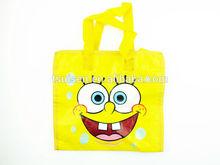 SpongeBob non woven shopping bag ,non woven cartoon bag , pp non woven bag