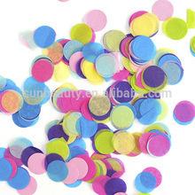 colored paper confetti tissue paper confetti round shaped paper confetti