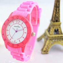 2014 New Pure Color Simple Luxury Brand Silicone Quartz Watch For Women/Ladies/Girls 5 Colors Optional