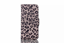 leopard PU Leather Wallet Cover Flip Leather Case for iPhone 6 4.7inch