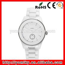 Waterproof white ceramic wrist watch wholesale ladies quartz select watch
