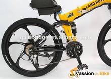 2015 Wholesale New Off Road Electric Bike 48V 250W/350W Foldable Frame + 48V 12Ah Rear Rack Li-ion Battery in Flat Aluminium