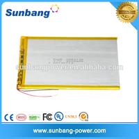 rechargable batteries 3.7V 4500mah lipo battery for tablet pc