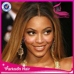 Fashion hairstyle brazilian virgin hair full lace wig celebrity wig halloween wig