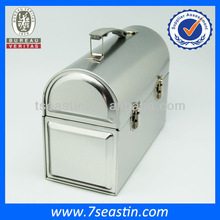 high-end cosmetic jewelry packaging tin box handled