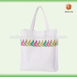 high quality customized eco plain white cotton canvas tote bag