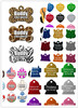 Pet ID Tags | 10 Shapes & Colors to Choose From | Dog Cat Aluminum