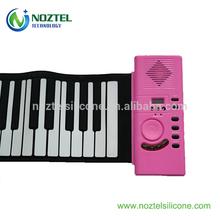 silicone 61 keys foldable piano pink child piano