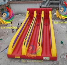 Fun inflatable sport durable pvc 3 Lane Bungee Run