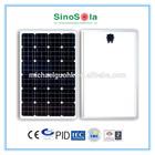 solar panels single monocrystalline silicon with TUV/IEC61215/IEC61730/CEC/CE/PID