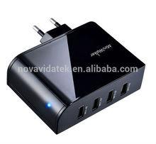4 Ports Muliti USB 5V 6.8A Full Fast Charging Adapter