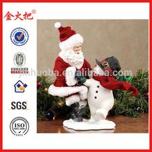 Friendship Clothtique Santa with Snowman Figurine