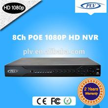 FULL HD Standalone H 264 8Ch POE 1080P HD P2P NVR