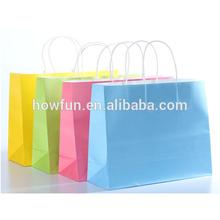 Custom Logo Printed brown craft gift shopping paper bag Wholesale