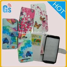 Print Photo Butterfly Flower Card Slot Wallet Flip Leather Case For Blu Dash 5.0 D410 D410A