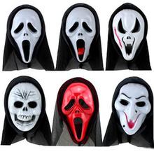 Halloween Cheap Plastic Horror Skull Ghost Scary Mask