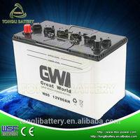 performance high starting battery N80 JIS scrap lead for sale