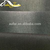 Aufar cotton denim fabric 10 pure twill siro spinning spandex black brown