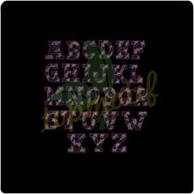 Crystal custom hotfix iron on rhinestone alphabet zebra pink letter princess for birthday dress decoration