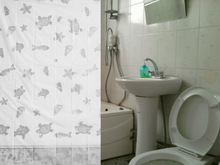EVA shower curtain, printed circle shower curtain good quality,180*180cm, soft feeling