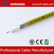 Coaxial Cable RG6 1.02mm BC conductor+4.57mm Foamed PE+ AL FOIL Bonded+AL braiding+6.91mm PVC Jacket