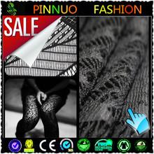 2014 fashion black scalloped edge lace fabric for dress