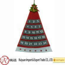 Felt Christmas countdown calendar for popular store gift