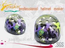 Sunshine world wide famous top flower kid sport helmet,children skating bicycle helmet for protecting,toy helmet for kids