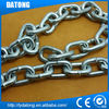 Hot sale stainless steel dog link chain with leather handle