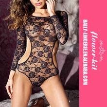 Hot sale latest design high quality satin silk teddy lingerie