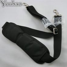 High density black nylon polyester webbing Laptop bag Shoulder strap with sliders
