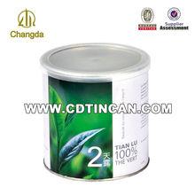 Runde beliebten Tee können metalldose mit kunststoff-deckel cd-085