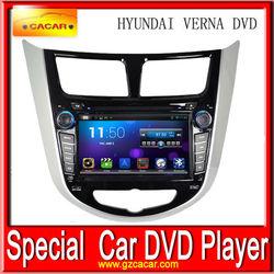 Hot sale car dvd player retractable screen for HYUNDAI VERNA