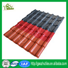 orange red fast installation decorative roofing synthetic resin tile