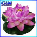 人工的な蓮の花紫のためのフローティングウォータープール装飾的な人工花泡花